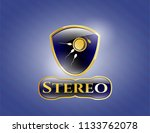 gold shiny emblem with... | Shutterstock .eps vector #1133762078