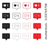 like vector icon set black and...