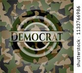 democrat camouflage emblem | Shutterstock .eps vector #1133766986