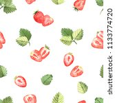 seamless pattern of...   Shutterstock . vector #1133774720