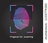 finger print scanning... | Shutterstock .eps vector #1133779283