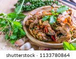 spicy stir fried duck with... | Shutterstock . vector #1133780864