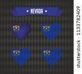 nevada heart with flag inside.... | Shutterstock .eps vector #1133782409