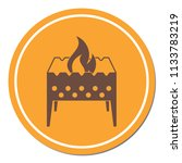 camping brazier icon. vector... | Shutterstock .eps vector #1133783219