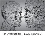 art concept of social... | Shutterstock .eps vector #1133786480