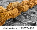 concept of blockchain. gold... | Shutterstock . vector #1133786930