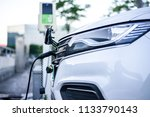 electric vehicle charging...   Shutterstock . vector #1133790143