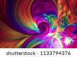 abstract fractal patterns and... | Shutterstock . vector #1133794376