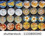 souvenir from sicily  fridge... | Shutterstock . vector #1133800340