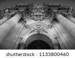 detail of the baroque cathedral ... | Shutterstock . vector #1133800460