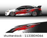 car decal graphic vector  wrap... | Shutterstock .eps vector #1133804066