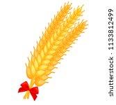 colorful cartoon ripe wheat...   Shutterstock .eps vector #1133812499