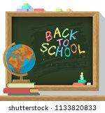 back to school poster.... | Shutterstock .eps vector #1133820833