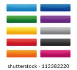 collection of blank rectangular ... | Shutterstock . vector #113382220