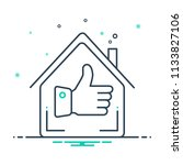 colorful icon for best home | Shutterstock .eps vector #1133827106