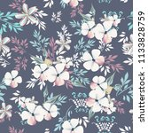 fashion floral vintage vector... | Shutterstock .eps vector #1133828759