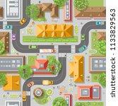 seamless pattern cityscape. ... | Shutterstock .eps vector #1133829563
