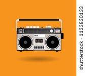vintage radio cassette vector... | Shutterstock .eps vector #1133830133