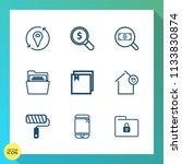 modern  simple vector icon set...   Shutterstock .eps vector #1133830874
