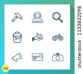 modern  simple vector icon set... | Shutterstock .eps vector #1133832098