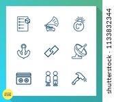 modern  simple vector icon set... | Shutterstock .eps vector #1133832344
