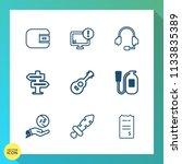 modern  simple vector icon set...   Shutterstock .eps vector #1133835389