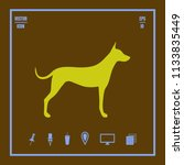 simple vector dog icon.... | Shutterstock .eps vector #1133835449