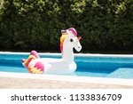 inflatable pool toy   giant... | Shutterstock . vector #1133836709