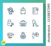 modern  simple vector icon set...   Shutterstock .eps vector #1133837390