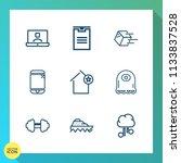 modern  simple vector icon set... | Shutterstock .eps vector #1133837528