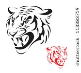 tiger head   vector illustration | Shutterstock .eps vector #113383759