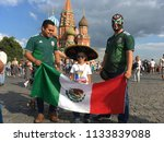 fans from mexico  who came to...   Shutterstock . vector #1133839088