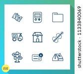 modern  simple vector icon set...   Shutterstock .eps vector #1133840069