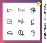 modern  simple vector icon set...   Shutterstock .eps vector #1133841059