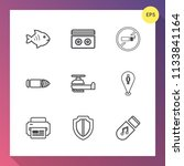 modern  simple vector icon set... | Shutterstock .eps vector #1133841164