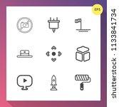 modern  simple vector icon set...   Shutterstock .eps vector #1133841734