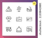 modern  simple vector icon set... | Shutterstock .eps vector #1133842880