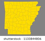 map of arkansas | Shutterstock .eps vector #1133844806