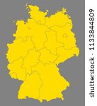map of germany | Shutterstock .eps vector #1133844809