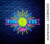 vintage fitness  gym emblem | Shutterstock .eps vector #1133846243