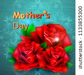mothers day greeting card with... | Shutterstock .eps vector #1133855300