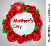 mothers day greeting card with... | Shutterstock .eps vector #1133855303