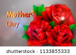 mothers day greeting card with... | Shutterstock .eps vector #1133855333