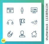 modern  simple vector icon set... | Shutterstock .eps vector #1133856134