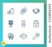 modern  simple vector icon set... | Shutterstock .eps vector #1133856293