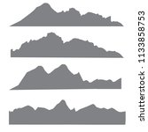 mountains silhouettes on the... | Shutterstock .eps vector #1133858753