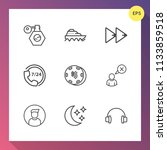 modern  simple vector icon set... | Shutterstock .eps vector #1133859518