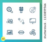 modern  simple vector icon set... | Shutterstock .eps vector #1133859566