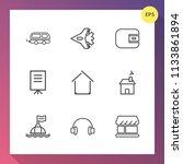 modern  simple vector icon set... | Shutterstock .eps vector #1133861894