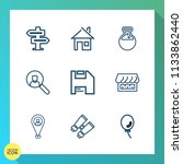 modern  simple vector icon set...   Shutterstock .eps vector #1133862440